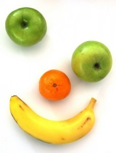 Smiley face fruit
